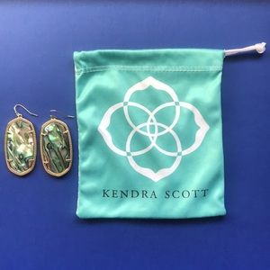 KENDRA SCOTT Danielle Earrings abalone gold EUC